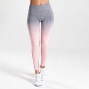 Gymshark Adapt Leggings Pink Grey Ombre Small